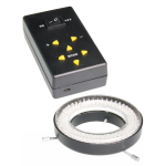 Ring illuminator with 144 LEDs with adjustable light intensity
