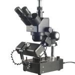 10X-40X Jewelry Trinocular Stereo Microscope with Three Lights