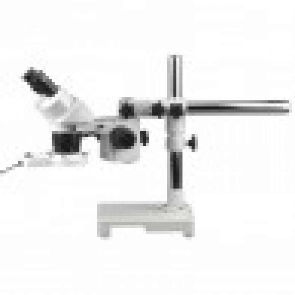 10X-20X-40X Stereo Microscope on Single-Arm Boom with Ring Light