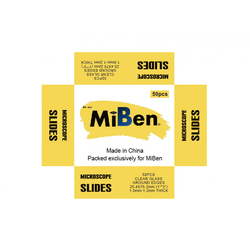 MiBen Clear Microscope Slides and Cover Slips Combo
